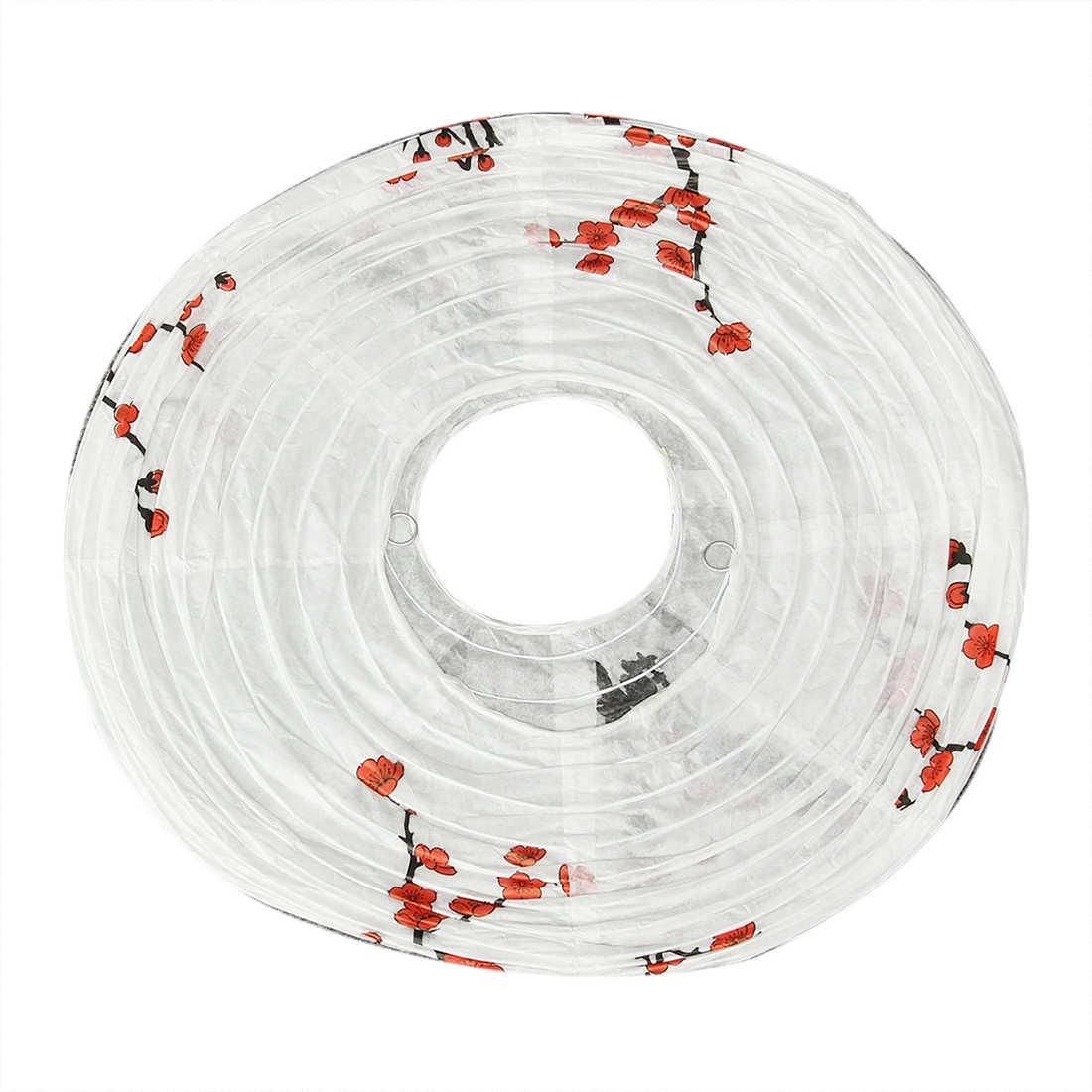 40cm Pantalla de papel linterna Pantalla de estilo oriental decoración ciruela Flor de moda linternas regalo decorativo ligero pantalla