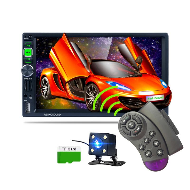 7-pouces ISO Port Full HD 1080 P Voiture Bluetooth Médias MP5 Lecteur GPS Navigator Android Téléphone Image HD rétroviseur lecteur multimédia