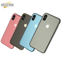 KISSCASE 360 Degree Coverage Cases For iPhone X  Ultra Thin Soft Silicone Case 7 6s 6 Plus 5s 5 Phone Accessories