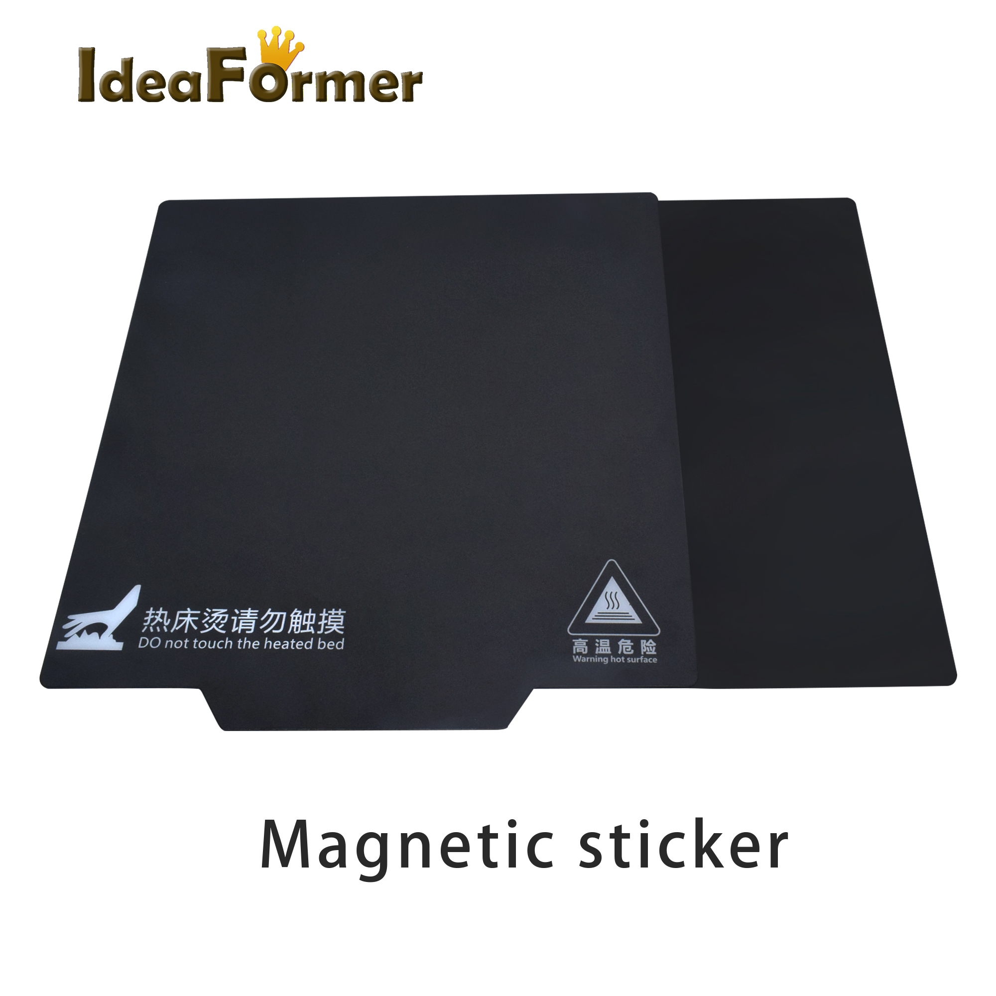 New Magnetic Print Bed Tape With Handle For PLA/ABS 200/220/235/250/310mm Square Print Sticker Flex Plate A+B 3D Printer Parts