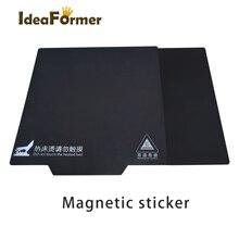 Piezas de impresora 3D cinta de cama de impresión magnética para PLA/ABS 200/220/235/250/310mm estampado A cuadros superficie adhesiva placa flexible A + B Ender3