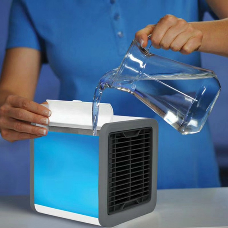Mini- Portable Usb Cold Fan Air Conditioner Fan Household Dormitory Office Atmosphere Humidifier FansMini- Portable Usb Cold Fan Air Conditioner Fan Household Dormitory Office Atmosphere Humidifier Fans