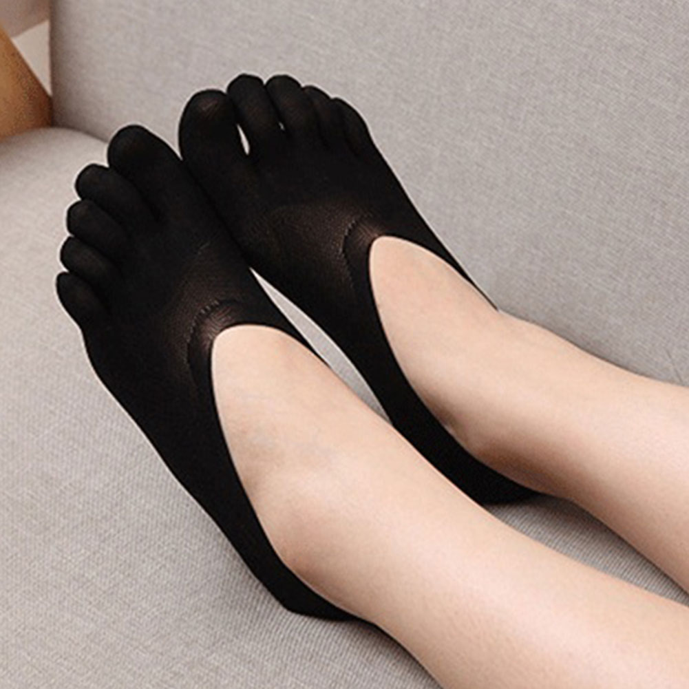 Invisible Low Cut Toe Summer Solid Socks Antiskid Five Finger Lace