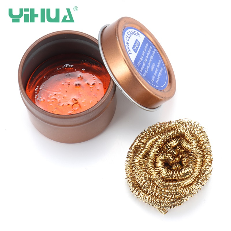 YIHUA 08B 1PC Iron Tips Soldering Flux Rosin Flux Alloy Copper Lead Free Tip Cleaner Welding For Rework Station