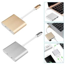 Type C USB 3.1 to USB-C 4K HDMI USB 3.0 Adapter Converter 3 in 1 Hub For Apple Macbook Lot