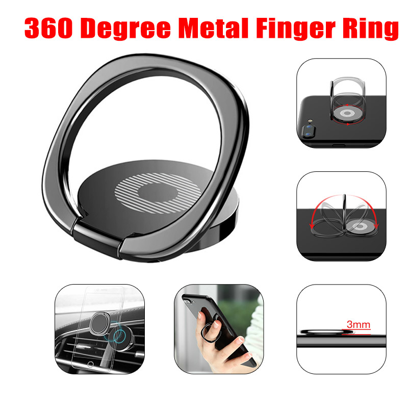 Luxury General Phone Stand For Samsung Xiaomi Metal Finger Ring Holder For IPhone X XR Mobile Phone Finger Stand Mount Support