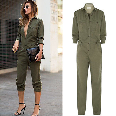 2019 Fashion Womens Autumn Winter Solid Denim Jumpsuit Sleeveless Playsuit Ladies Trousers Tops Holiday Free Shipping