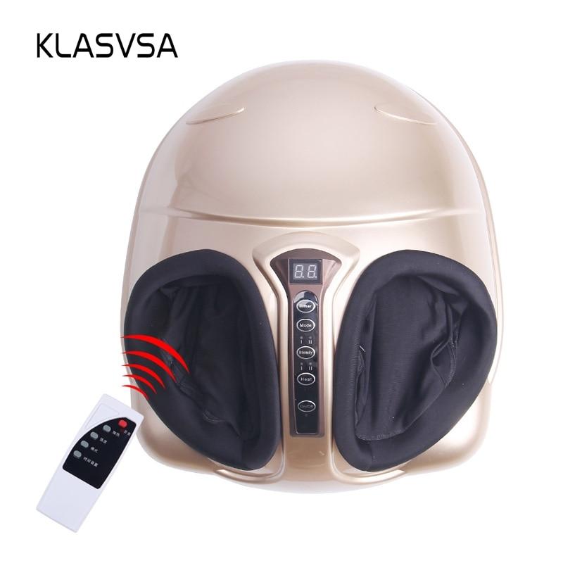 Klasvsa Электрический шиацу массажер для ног далеко инфракрасный обогрев Замес сжатия воздуха рефлекторный массаж устройства домашнего отдых...