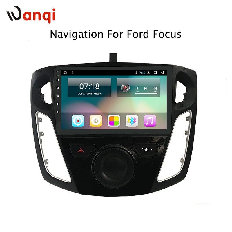 9 pouce android 8.1 dvd de voiture système multimédia de navigation gps pour ford focus 2012-2015 y compris canbus