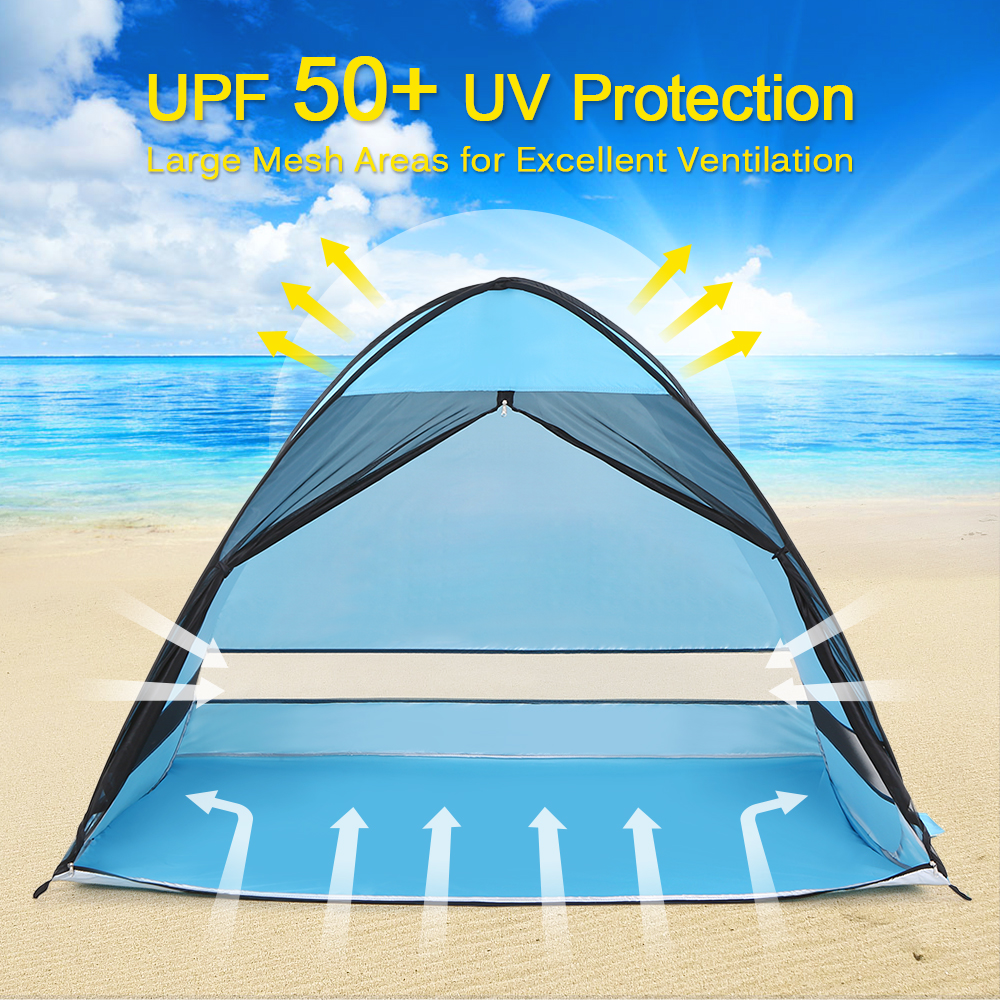 NEW Beach Tent Sun Shelter With Anti Mosquito Mesh Outdoor Automatic Pop Up Tent Cabana  Sun Shading Anti UV Fishing Tent
