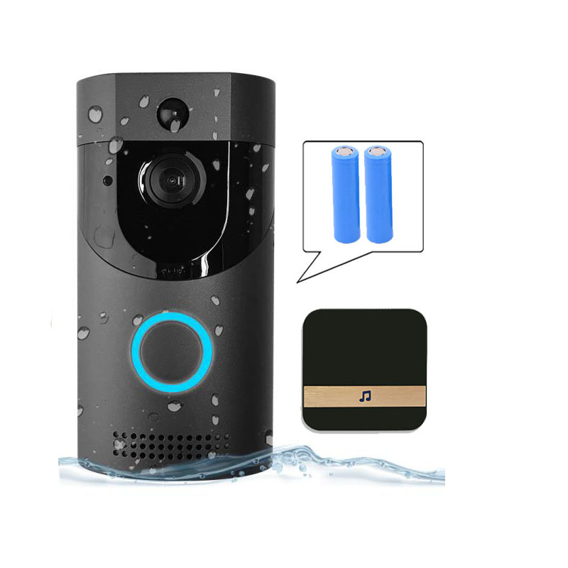 B30 Wifi Doorbell Ip65 Waterproof Smart Video Door Chime 720P Wireless Intercom Fir Alarm Ir Night-Vision Ip Camera(Eu Plug)