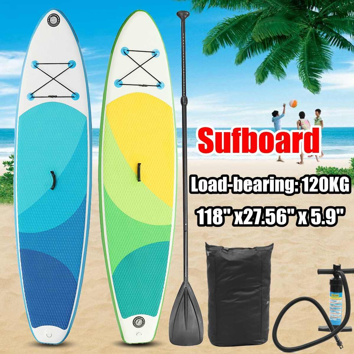 10FT 3m-SUP Planche De Surf Gonflable Doux surf Tiennent le Conseil De Palette 300X76X15 CM gonflable planche de Surf sup pagaie bateau