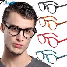 Zilead, Классическая овальная оправа, очки для чтения для женщин и мужчин, прозрачные линзы, очки для дальнозоркости, очки с диоптрией+ 4,0, унисекс