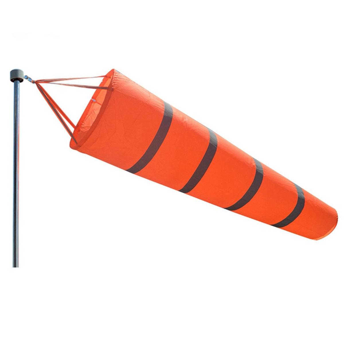 LBLA Outdoor Aviation Windsock Rip-stop Wind Measurement Sock Bag Reflective Belt Wind Monitoring Toy for Meteorology 80cm