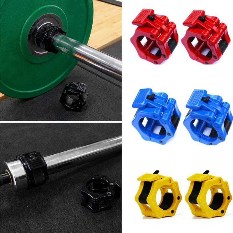 1 Pair 50mm Dumbbell Barbell Clamp Lock Man Weightlifting Barbell Buckle Bodybuilding Exercise Fitness Gym Equipment Accessories