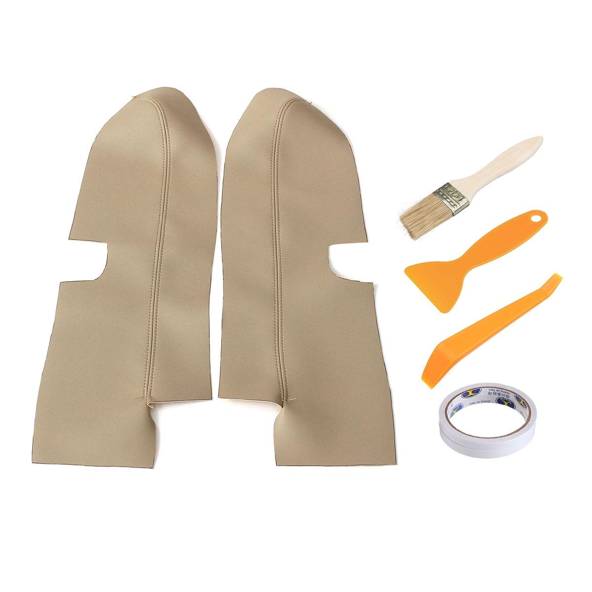 Пара передней двери ручки панели подлокотник микрофибра кожаный чехол накладка для Honda CRV 2007 2008 2009 2010 2011