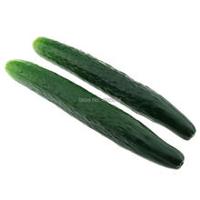 Gresorth 2pcs Soft PU Artificial Lifelike Cucumber Fake Vegetable Home Kitchen Food Toy Decoration