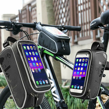 2019 Hot Sale Waterproof Mountain Bike Frame Front Bag Pannier Bicycle Mobile Phone Holder