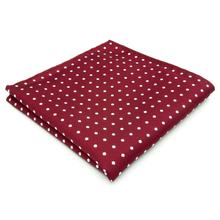 KH15 мужской, карманный, квадратный горошек Красный Белый Шелковый Свадебный бренд платок Новинка