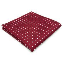 KH15 Мужские карманные квадратные точки Красный Белый шелковый Свадебные бренды Платок Новинка Лучший!