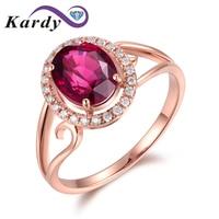 Purity Unique Women Pink Tourmaline Gemstone Wedding Engagement Diamond 14K Rose Gold Fashion Ring Set for Women