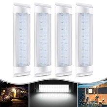 4 шт 24 V 72 светодиодный автомобиля внутренняя световая панель трубки лампу полосы белые Светодиодные ленты Light Tube переключатель для автоматического Караван Трейлер/Детали RV