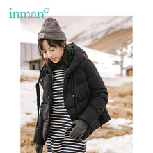INMAN Winter Nieuwe Collectie Hooded Stijl Korte Mode Vrouwen Winter Warme Causale Jas(China)