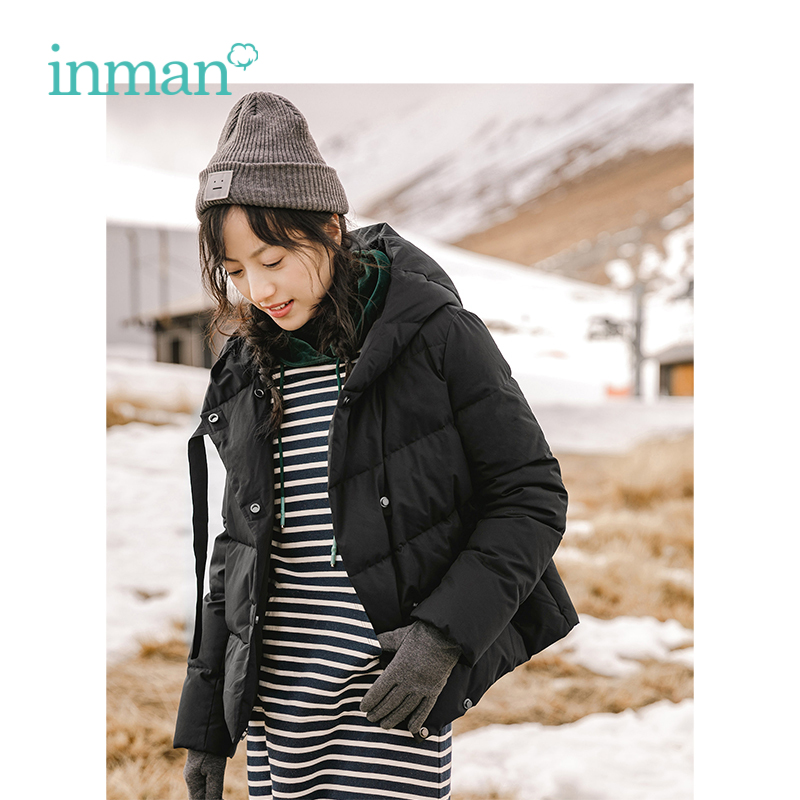 INMAN Winter New Arrival Hooded Style Short Fashion Women Winter Warm   Down   Causal   Coat