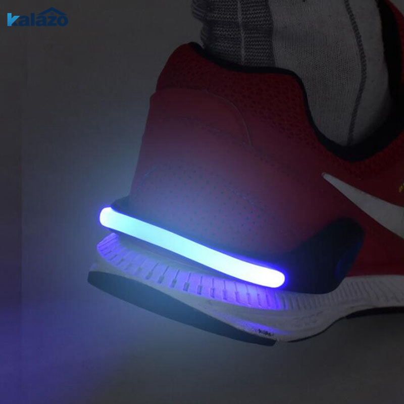 LED Luminous Shoe Clip Outdoor Bicycle RED LED Luminous Night Running Shoe Safety Clips Cycling Sports Warning Light Safety