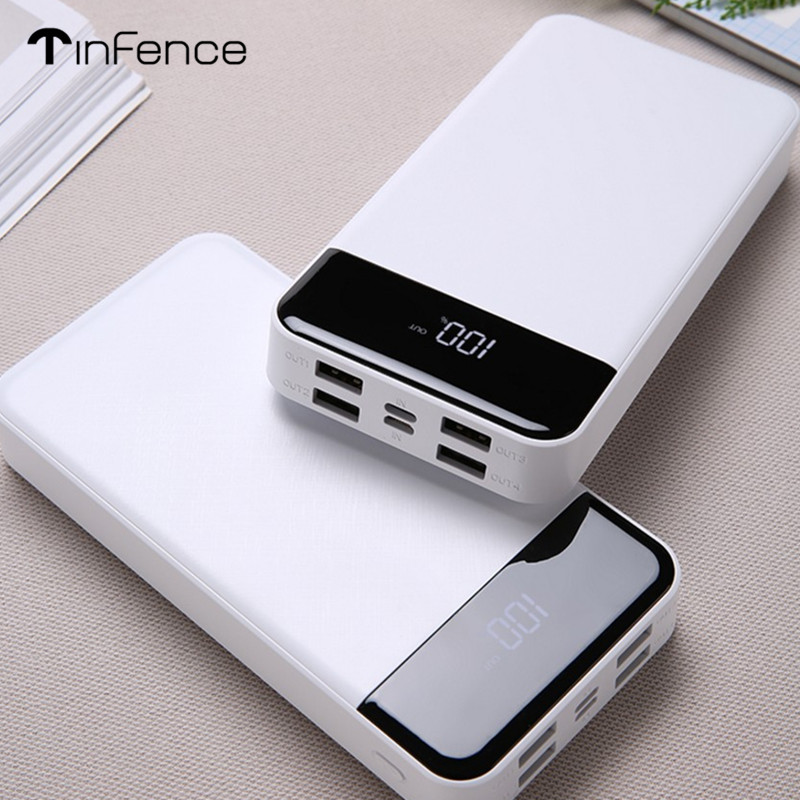 Batterie externe 30000 mah 18650 Powerbank batterie externe de secours Support d'alimentation type-c batterie externe pour téléphone Charge rapide avec affichage de LED