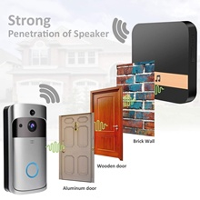 ANGOOD 433MHz Wireless Wifi Smart Video Doorbell Chime Music Receiver Home Security Indoor Intercom Door Bell Receiver 10-110dB