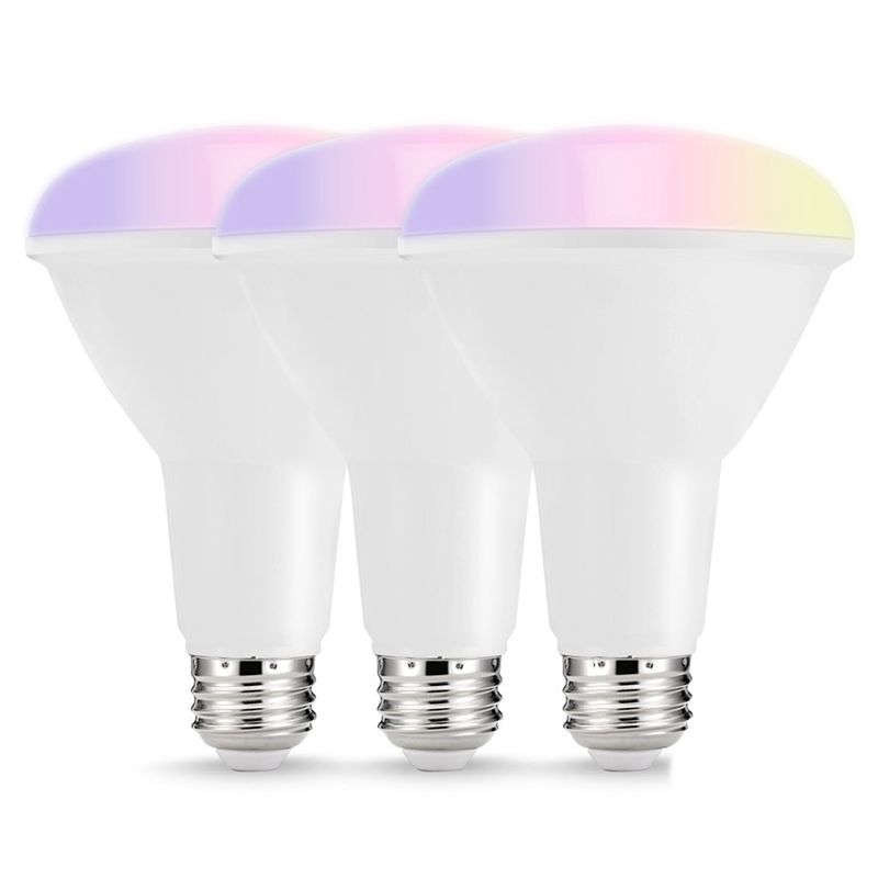 Smart LED Bulbs,Multicolored WIFI LED Lights, BR30 Dimmable Recessed Light Bulbs, 75W 80W Equivalent Flood Light, Compatible w