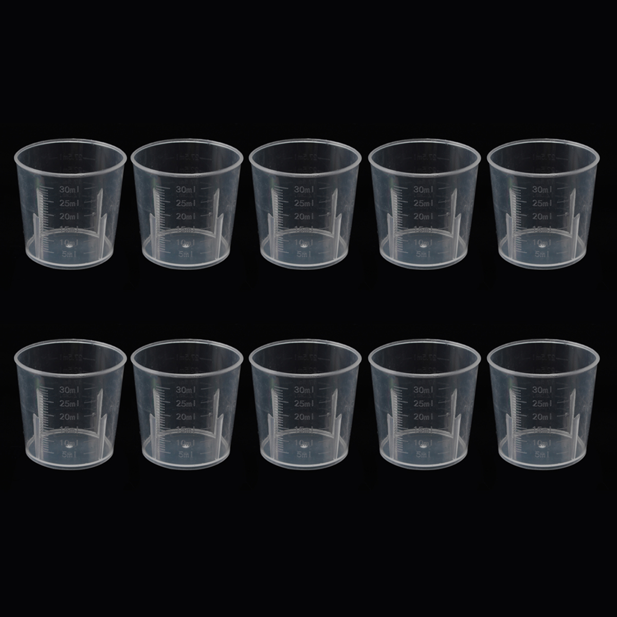 10pcs 30ml Clear Plastic Measuring Cup Measure Beaker Measuring Medicine Cups Clear Container Kitchen Tool Supplies