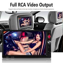 "2 din Авторадио мультимедийный плеер 2DIN FM Cam USB TF стерео Авто Аудио 2 din Автомагнитолы 7 ""HD MP5 mirrorlink"