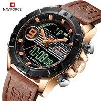 NAVIFORCE Men Luxury Top Brand Fashion Sports Watches Men's Waterproof Quartz Date Clock Male Leather Army Military Wrist Watch