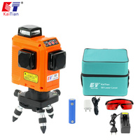 KaiTian 12 Lines Laser Level with 2500 mah BATTERY & Horizontal And Vertical Lines Work Separately Red Laser Beam Lines 3D Level