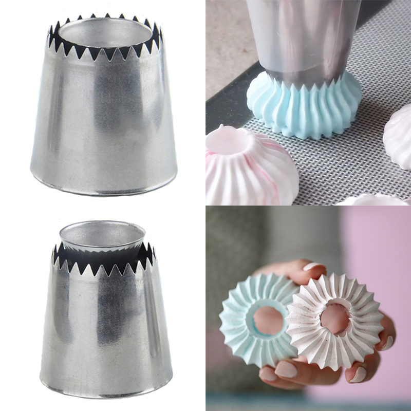 Nozzles Baking Tool Cake Decor Tips Sugarcraft Icing Russian Pastry Piping Sandwich Cookies DIY Decorating Flower 1PC New image