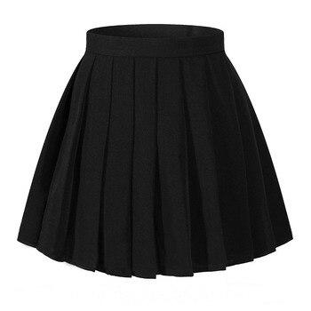 Women High Waist Pleated Skirt Mini Skirts Girl School Uniform Plaid Skirt Cosplay Costumes Юбка