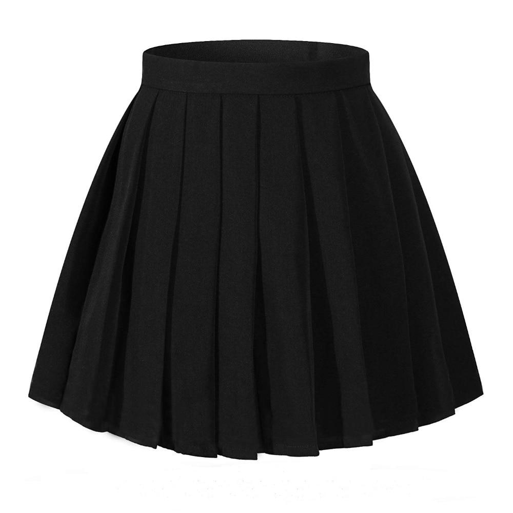 2250ef326 Falda plisada de cintura alta para mujer Mini faldas para niñas ...