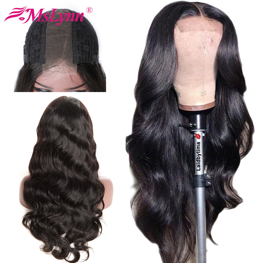 Lace Frontal Human Hair Wigs 2x6 Body Wave Wig Pre Plucked Lace Wig Mslynn Remy Brazilian Hair Lace Wig For Black Women
