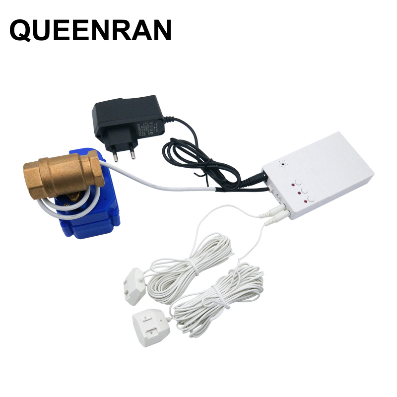 Russian Ukrain Water Leakage Sensor with 1 2 DN15 Auto Stop Valve Water Leaking Detection Sensor