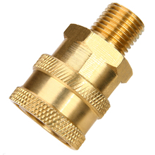 1pc 1/4 Male (MNPT) Pressure Washer Brass Quick Connect Coupler Converter For High Cleaning Machine