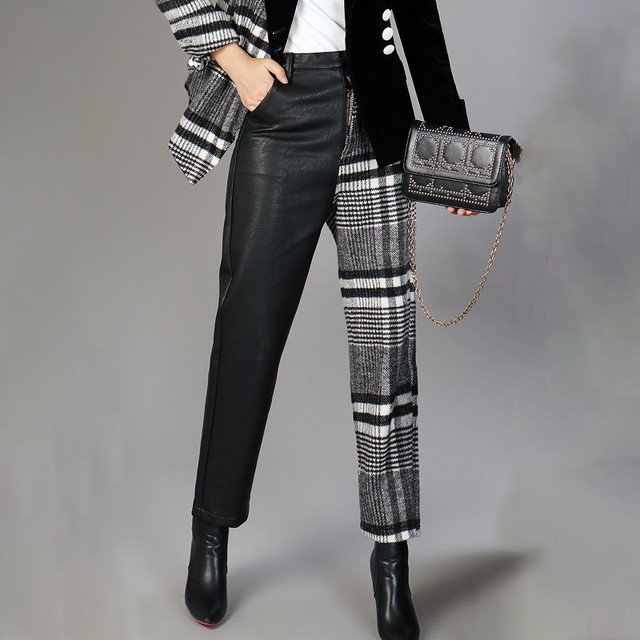 Women's Plaid Pants - 4 Sizes 1