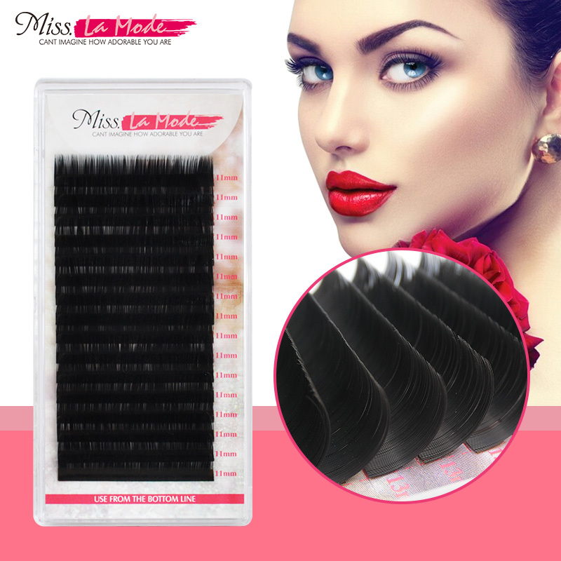 MissLaMode 16rows professional  individual Eyelashes Extension Russia Volume eyelash extension supplies materials