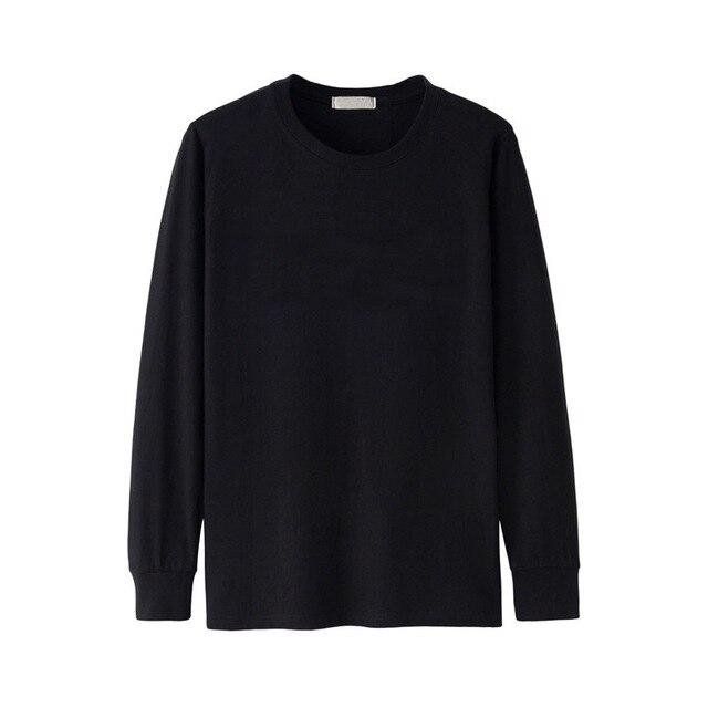Men Tshirt Long Sleeve Full Winter Autumn Plus Size Big Xxxxl 5XL 6XL Casual Plain T