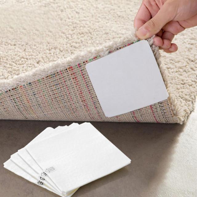 10*10 cm 4 sztuk klej Anti-slip Non tkany dywan mata taśma klejąca naklejka chwytak pasty domu akcesoria do toaleta wc podłogowe