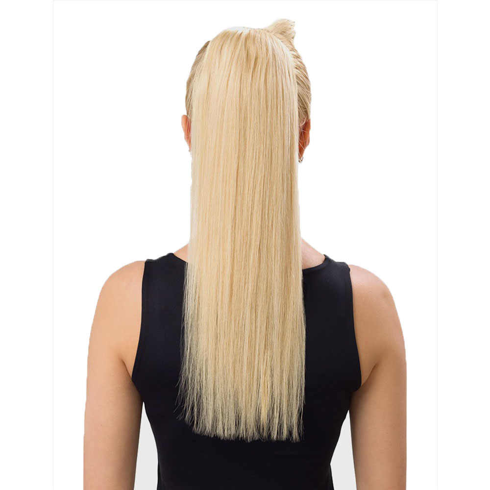 """YONNA 80g 14-16 """"grueso pelo humano Cola de Caballo envolver alrededor de los Clips de cola de caballo-en recto no- cabello remy"""