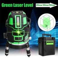 5 line 6 point Green laser level meter 360 degree laser level with outdoor mode tilt mode Self Leveling