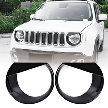 2PCSX ABS Angry Bird Headlight Cover Bezels Trim For Renegade 2015 - 2017