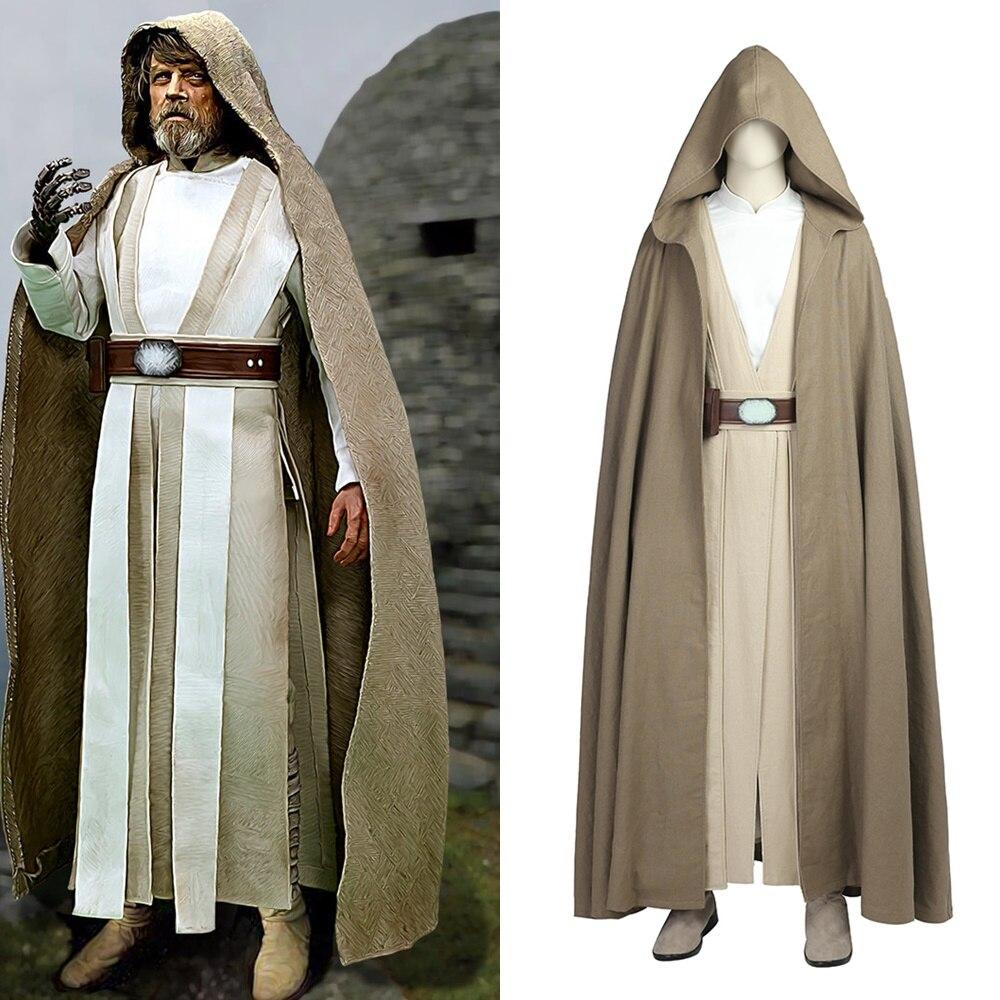 Star Wars The Last Jedi Luke Skywalker Cosplay Costume Halloween Outfit